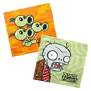 Set x 2 Toallas Plants vs Zombies