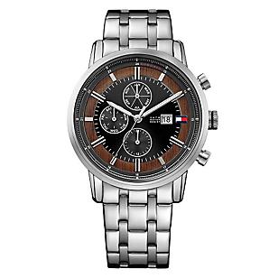 Reloj Hombre de Cuarzo Plateado