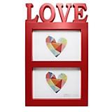Marco para Fotos Love2 10x15 Rojo y Blanco