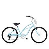 Bicicleta Cruiser 7 D Mujer Azul
