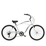 Bicicleta Cruiser 7 D Hombre Plata