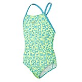 Traje de Baño Niña Text Allover Rippleback