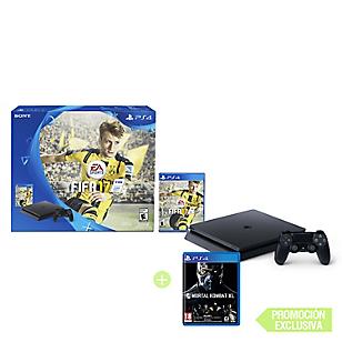 Consola PS4 Slim + Videojuego FIFA 17