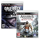 Videojuegos PS3: Call of Duty Ghost + Assassins Creed Black