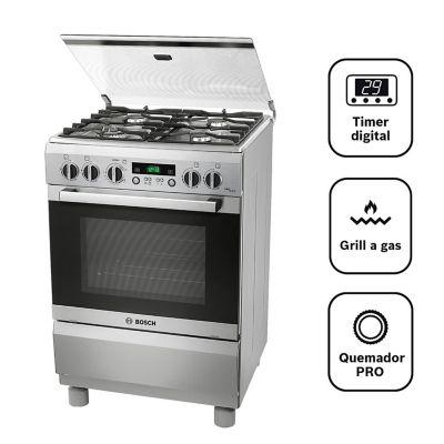 Cocina a Gas 4 Hornillas PRO449 IX Inox