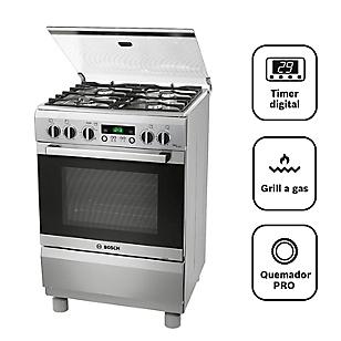 Bosch Cocina a Gas 4 Hornillas PRO449 IX Inox