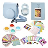 Kit Instax Mini 8 Acc Bundle Celeste