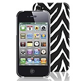 Carcasa para iPhone 4/4S PC Blanco/Negro
