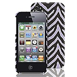 Carcasa para iPhone 4/4S PC Lila/Negro