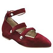 Zapatos Aboton Velvet  Burgundy