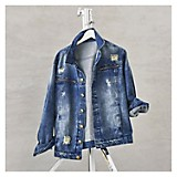 Casaca Denim Zipper Roto