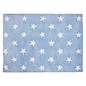 Alfombra Blue Stars Blanco