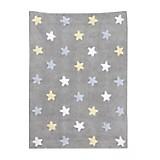 Alfombra Tricolor Stars Gris Azul