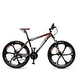 Bicicleta Montañera X-clusive Alum Aro 26 Negro Mate Rojo