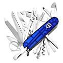 Navaja SwissChamp Azul Transparente