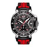 Reloj Hombre Resina Negro/Rojo
