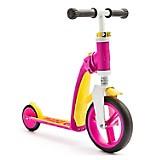 Scooter-Bicicleta de Balance Highwaybaby Rosa con Amarillo