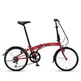 Bicicleta Plegable Suv D6 Rojo