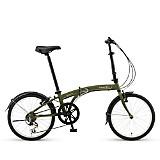 Bicicleta Plegable Suv D6 Verde Oliva