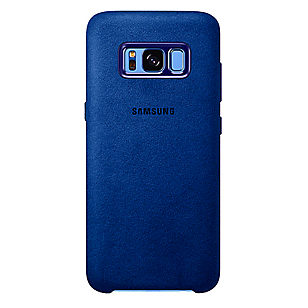 Alcantara Cover Galaxy S8 Plus Azul