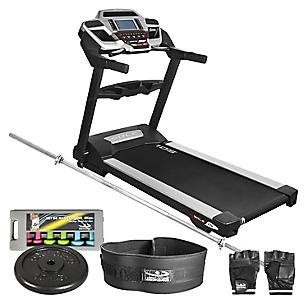 Sole Combo Trotadora Treadmill TT8 + Guantes + Faja + Mancuernas + Barra Larga + Disco 10kg