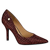 Zapatos Jaquard Trama Rojo
