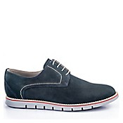Zapatos Casual Hombre Pasador Cuero Azul