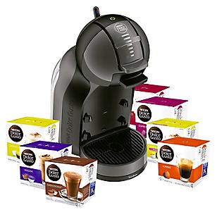 Cafetera Nescafé Mini Me PV1208AR Negro/Gris + 10 cajas de cápsulas