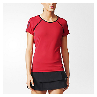 Camiseta de Tenis Club Tee Borgoña