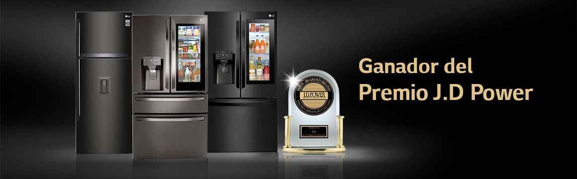 Refrigeradoras LG con el premio JD Power