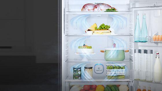 Refrigeradora mostrando las salidas de aire internas