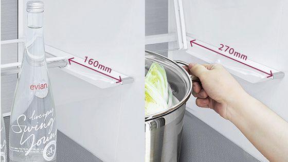Estante para 4 vinos dentro de la refrigeradora
