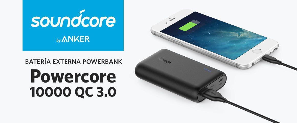 Batería Externa Powerbank Powercore 10000 QC