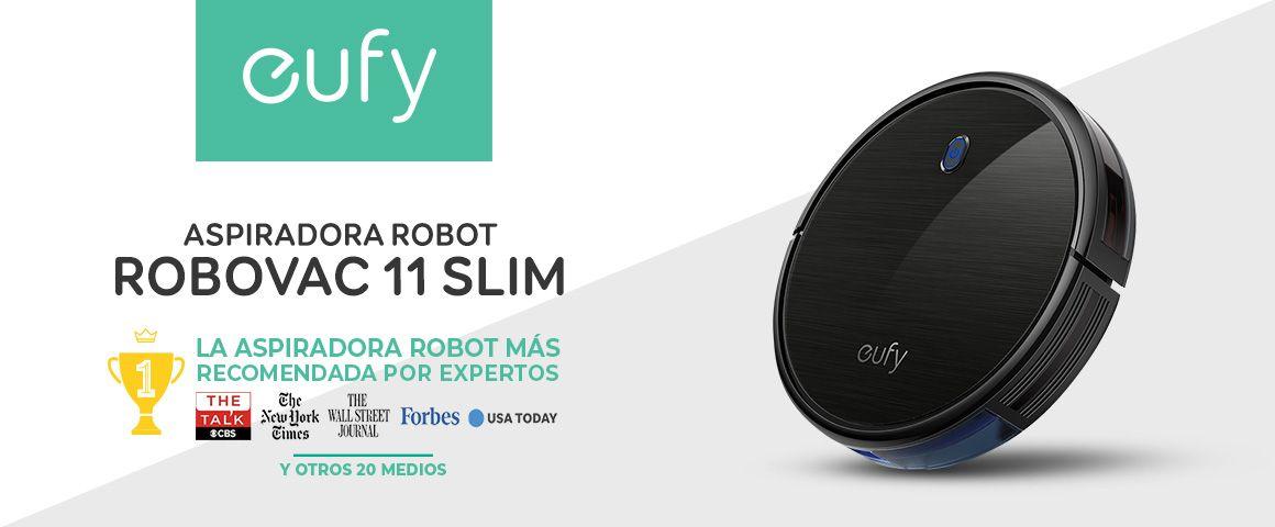 Aspiradora Robot Inteligente Robovac 11 Slim Negra