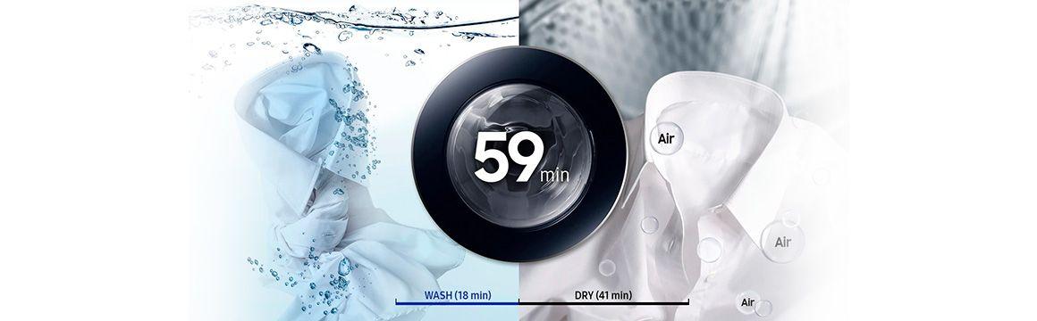 Lavado y secado de 59 min