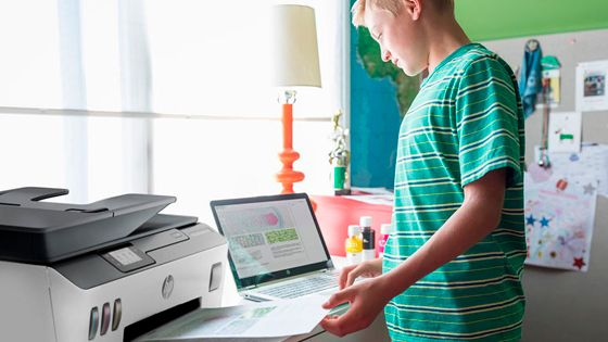 Multifuncional HP Smart Tank 533 imprime con HP Smart App