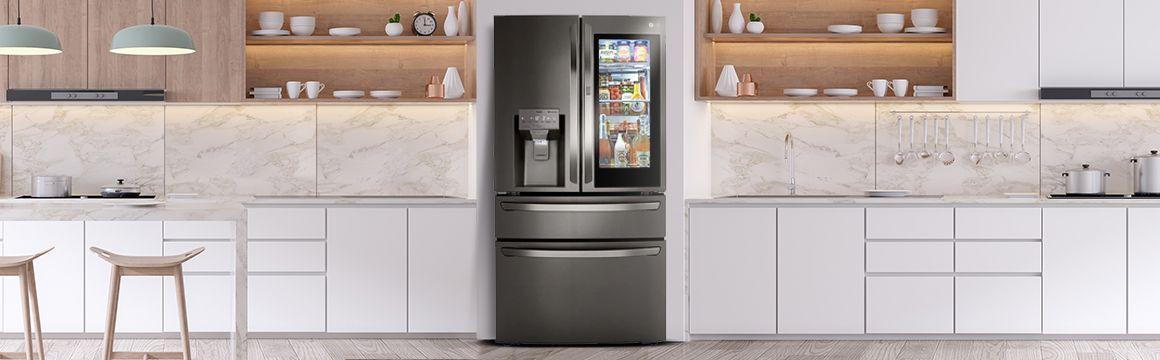 Refrigeradora InstaView ubicada en la cocina