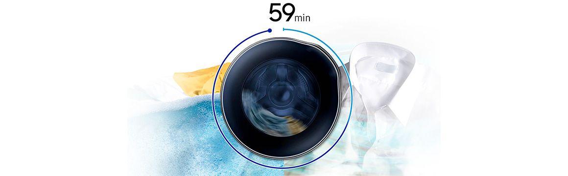 59 min. de lavado y secado