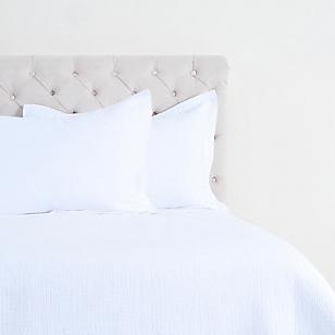 Quilt Liso Blanco + 1 Funda de Almohada
