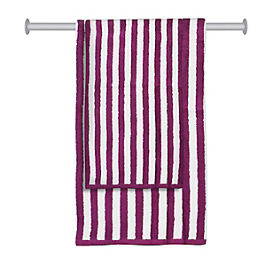 Set de Toallas Stripes Morado x 2