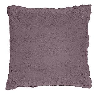 Cojín Crochet Rosado