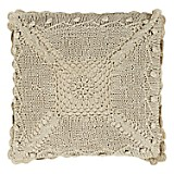 Cojín Crochet 40 x 40 cm Ivory
