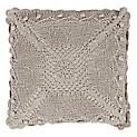 Cojín Crochet 40 x 40 cm Beige