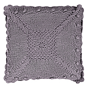 Cojín Crochet 40 x 40 cm Morado