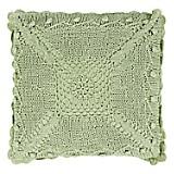 Cojín Crochet  40 x 40 cm Verde