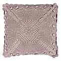 Cojín Crochet 40 x 40 cm Rosado