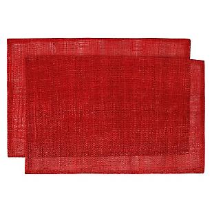 Individuales Ramie Rojo