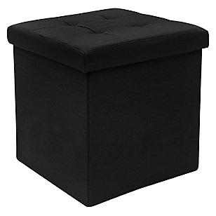 Puff Tela Negro 38 cm