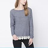 Sweater Encaje Ruedo