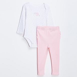 Pack Body y Pantalón para Bebé Niña